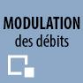 Modulation des débits