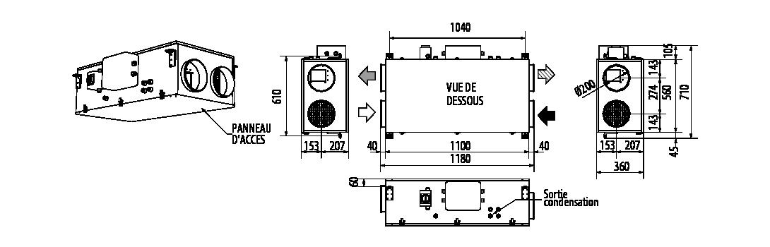 CAD-HR-FLAT-450-dim