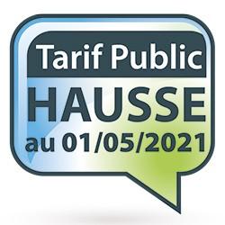Evolution du tarif public 2021 au 01/05/2021