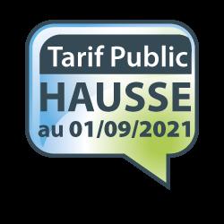 EVOLUTION DU TARIF PUBLIC 2021 AU 01/09/2021