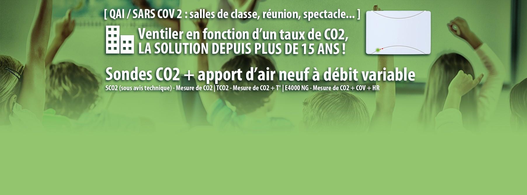 Ventiler en fonction du taux de CO2