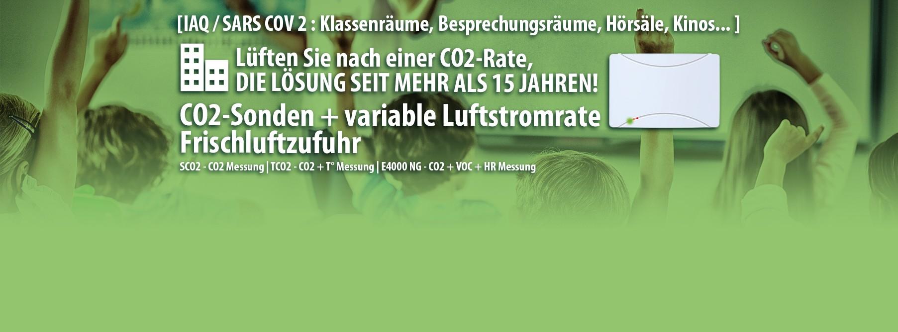 Lüften Sie nach einer CO2-Rate