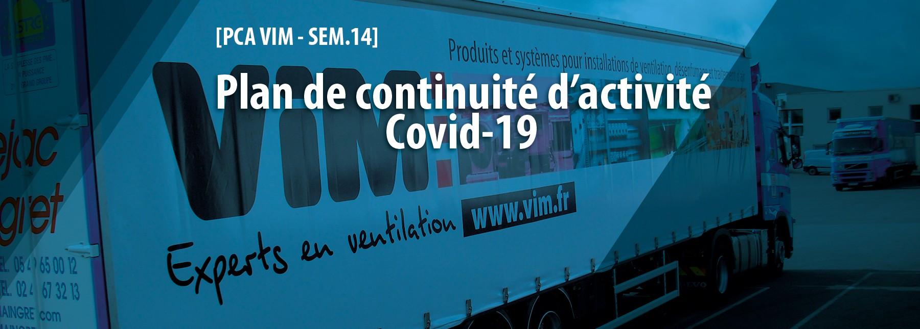 Plan de continuation d'activité Covid-19 VIM