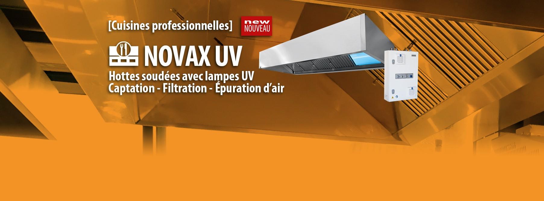 Hottes soudées avec lampes UV