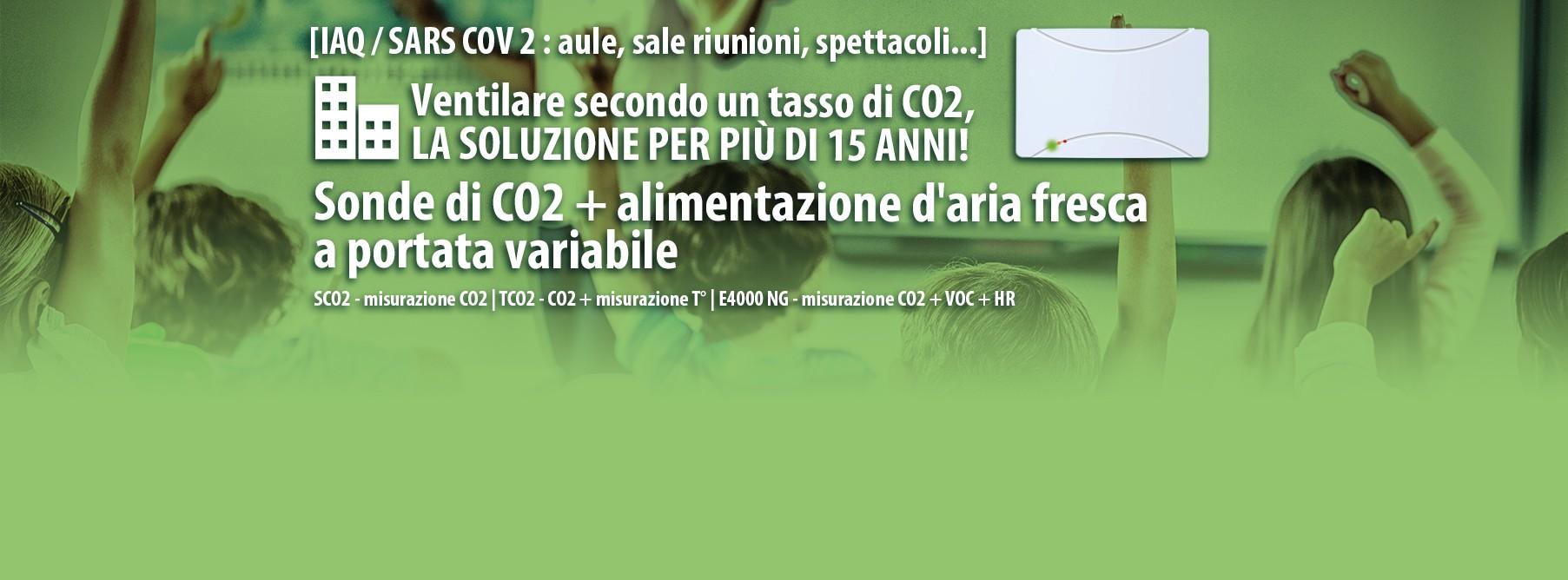 Ventilare secondo un tasso di CO2
