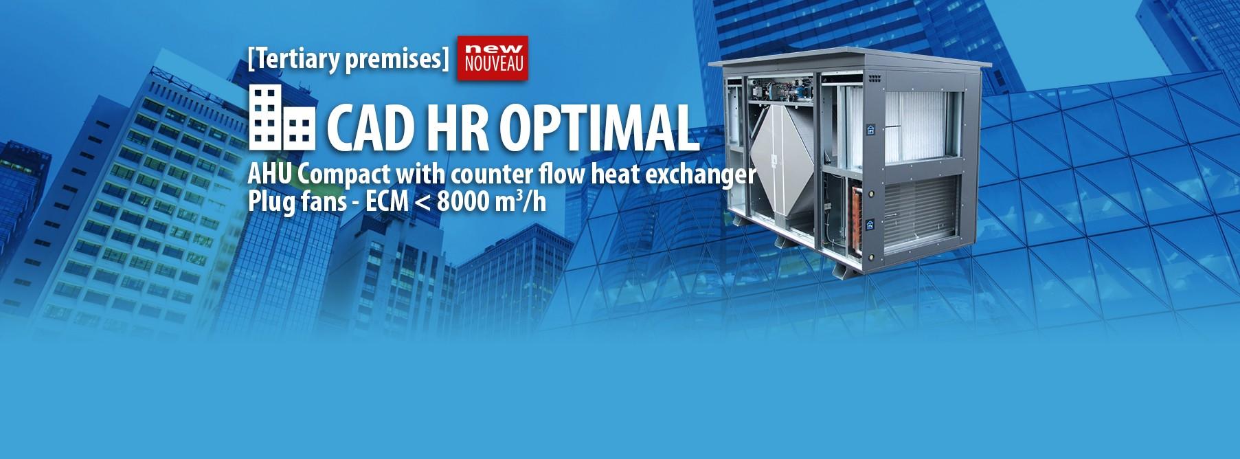 AHU Compact with counter flow heat exchanger Plug fans - ECM < 8000 m3/h