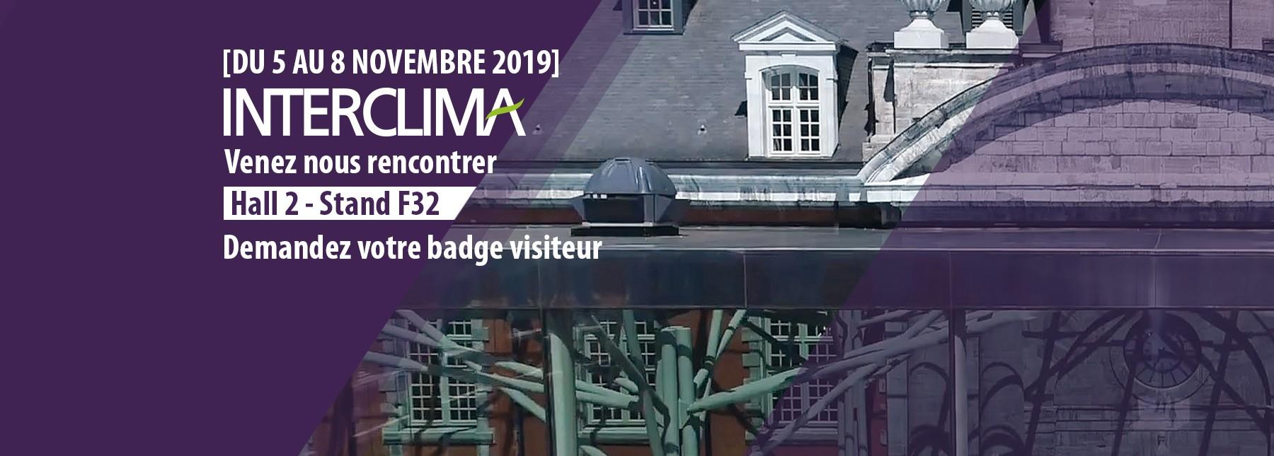 INTERCLIMA 2019 - Accès demande de badge