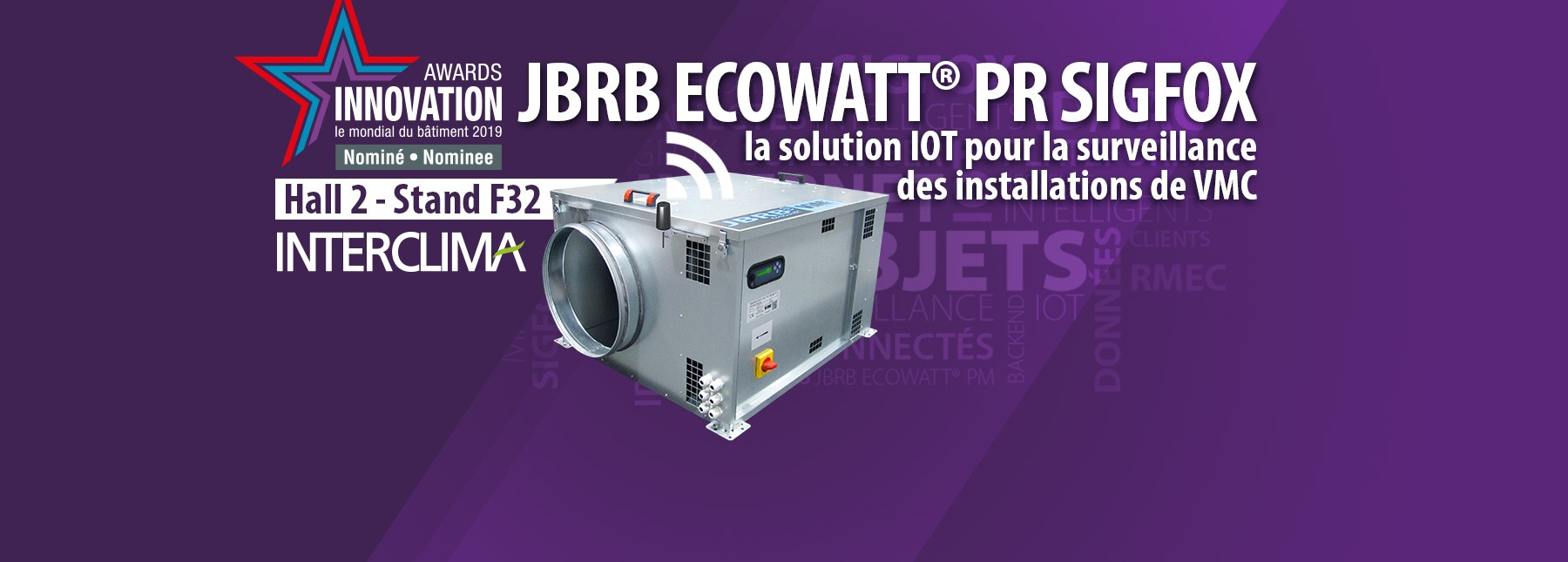 JBRB ECOWATT PR SIGFOX nominé aux Awards INTERCLIMA 2019